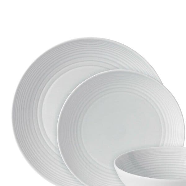 Royal Doulton Gordon Ramsay Maze 12 piece Dinnerware Set White GRMZWH22417